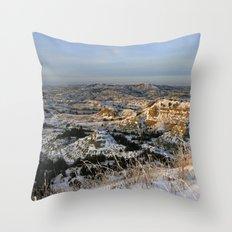 The Bad Lands of North Dakota Throw Pillow