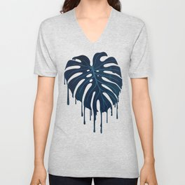 Monstera Melt (in Green) Unisex V-Neck