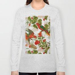 Vintage & Shabby Chic - Birds in Flower Jungle Long Sleeve T-shirt