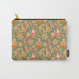 Gingerbread Christmas Pattern (Color) Carry-All Pouch