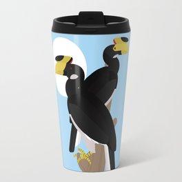 Malabar pied hornbills Travel Mug