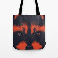 raccoon Tote Bags featuring raccoon by CranioDsgn
