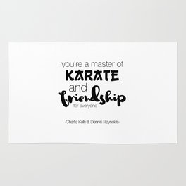 Charlie Kelly & Dennis Reynolds - Typography Rug