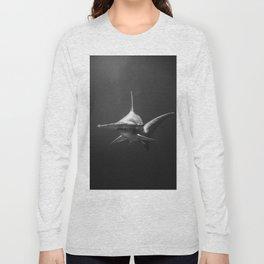 Hammerhead Shark (Black and White) Long Sleeve T-shirt