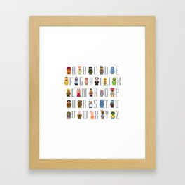 Pixel Muppet Show Alphabet Framed Art Print