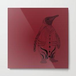 pinguin red Metal Print