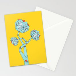 Electronic Flowers Circuit Board Petals Stationery Cards