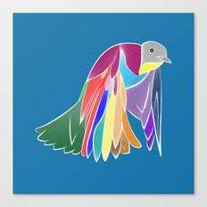 Bird - Blue Canvas Print