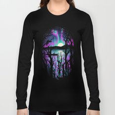 Night With Aurora Long Sleeve T-shirt