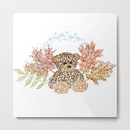 Autumn Bear (B) Metal Print