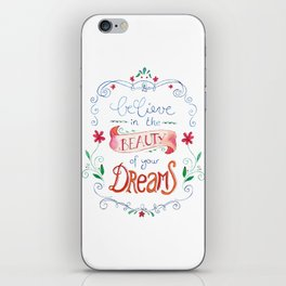 handlettering believe  iPhone Skin
