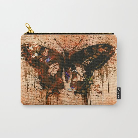 artistic watercolor butterfly painting artwork Carry-All Pouch