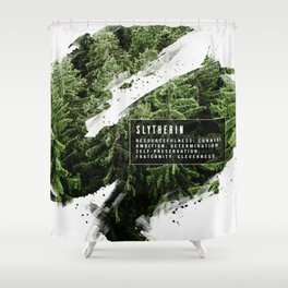 Slytherin Nature Shower Curtain