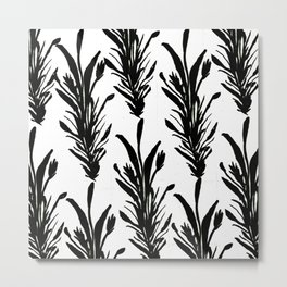 Black Leaves Metal Print
