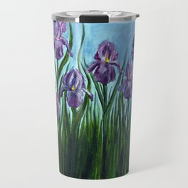 Field of Irises Travel Mug
