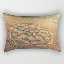 Crop Circle 2016 - Cherhill, Calstone, Wiltshire Rectangular Pillow