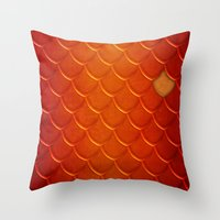 smaug Throw Pillows featuring Smaug by sevillaseas