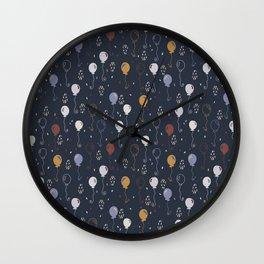 Elegant Party Balloons Vector Pattern Wall Clock