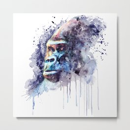 Powerful Gorilla Metal Print