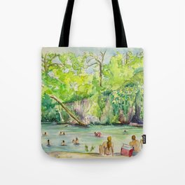Krause Springs - historic Texas natural springs swimming hole Tote Bag
