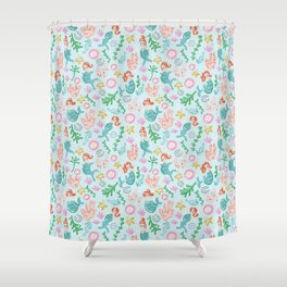 Mermaids and sea creatures Shower Curtain