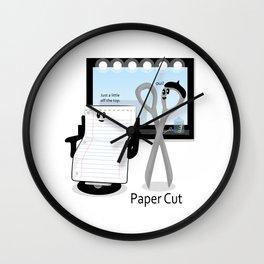 Paper Cut Wall Clock