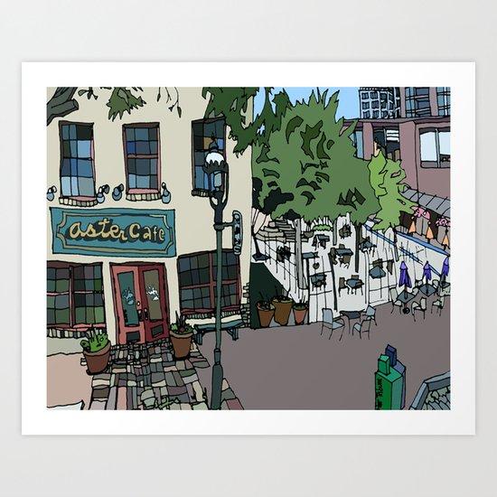 Aster Cafe - Minneapolis, Minnesota Art Print