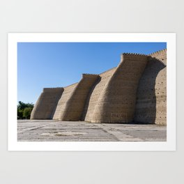 Wall of the massive Ark fortress Art Print