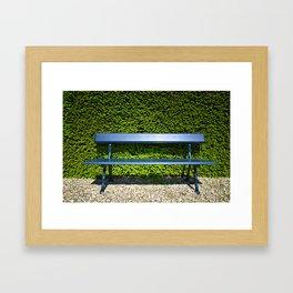 Blue bench Framed Art Print