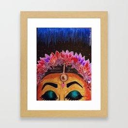 Brown Girl Positivity Framed Art Print