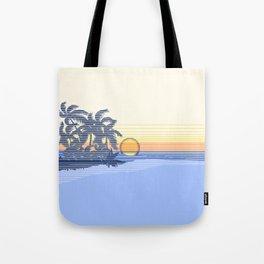 Big Sunset Hawaiian Surfer Striped Scenic Tote Bag