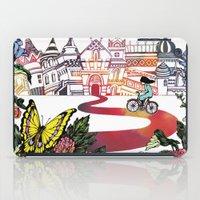 cycling iPad Cases featuring Summer Cycling by Natsuki Otani