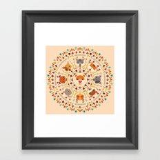 Om Nom Nom Hamster Mandala Framed Art Print