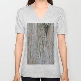 TEXTURES -- Dawn Redwood Bark Unisex V-Neck