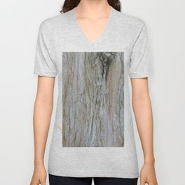 TEXTURES -- Dawn Redwood Bark Unisex V-Neck