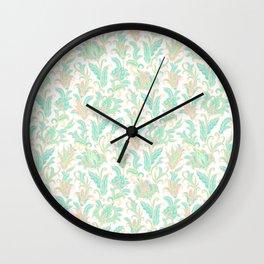 Jacobean floral  Wall Clock