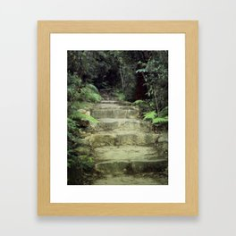 Steps to losing yourself Framed Art Print
