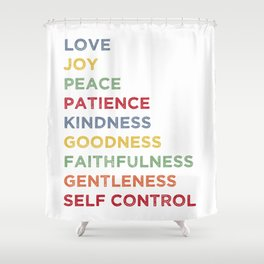 Fruits of the Spirit - Color Shower Curtain