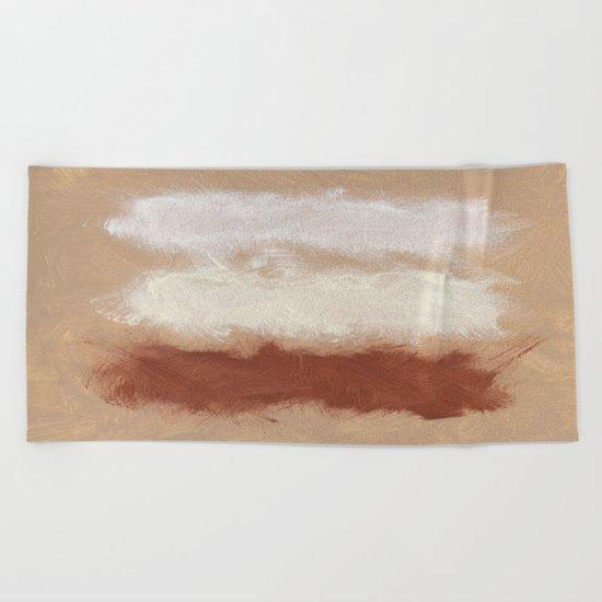Rothko Inspired Spiced Berry Canyon Dusk 001 Mixed Stripe Modern Art Comforter Pillow #society6 Beach Towel