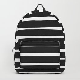Simple Stripes Black N White Backpack