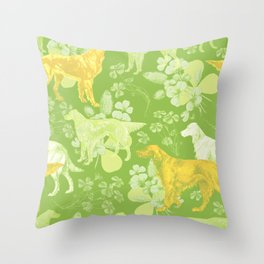 SETTERS ON THE MEADOW Throw Pillow