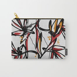 Tropical white Carry-All Pouch