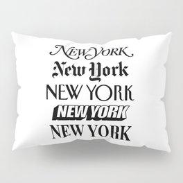 I Heart New York City Black and White New York Poster I Love NYC Design black-white home wall decor Pillow Sham