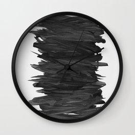 Abstract Minimalism #2 #minimal #ink #decor #art #society6 Wall Clock