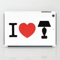 anchorman iPad Cases featuring I LOVE LAMP by John Medbury (LAZY J Studios)