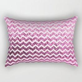 Glitter Sparkly Bling Chevron Pattern (pink) Rectangular Pillow
