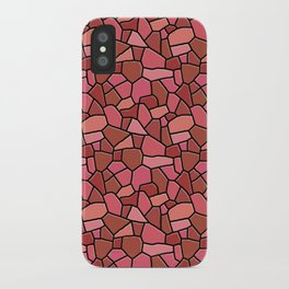Stained Glass Red iPhone Case