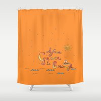 grace Shower Curtains featuring Grace by NeoQlassical