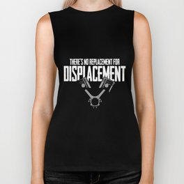 No Replacement For Displacement V8 Muscle Car Biker Tank