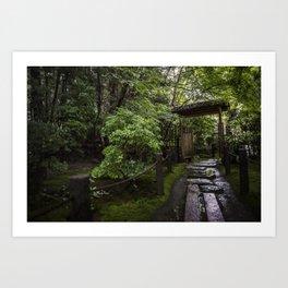 Stoney Path in the Rain Art Print